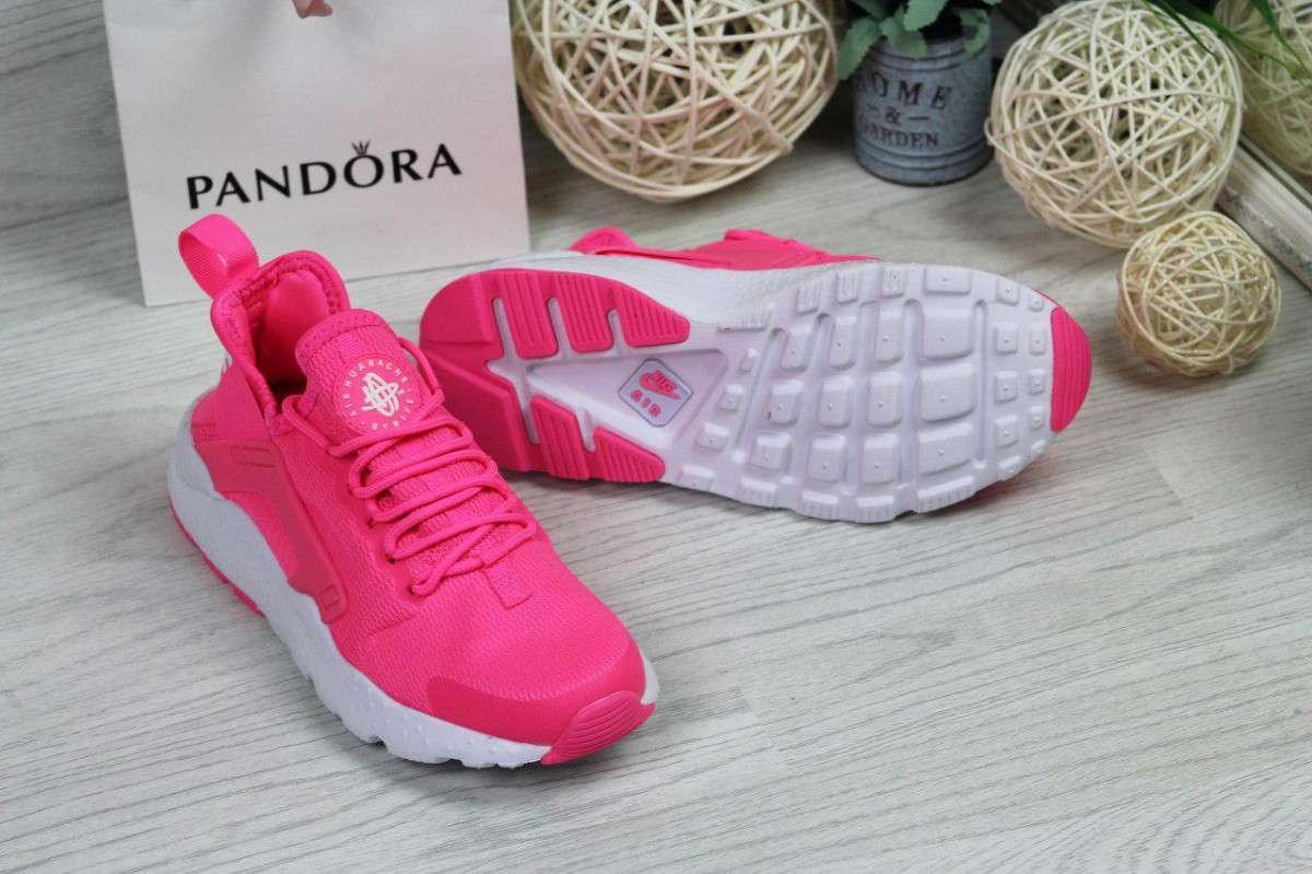 ff4f7fdf Кроссовки женские ярко розовые Nike Huarache 4736 купить в интернет ...