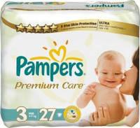 Подгузники Pampers Premium Care midi 3 (4-9 кг) 27 шт. памперс премиум