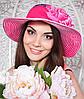 Летняя женская шляпа «Лента розы»