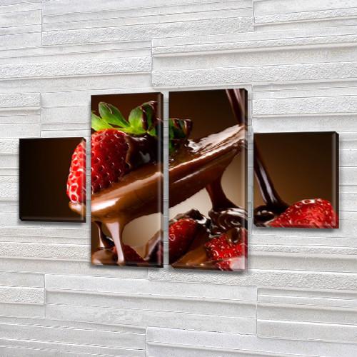 Модульная картина Зеленый и синий виноград на досках, 80x130 см, (40x30-2/80х30-2)