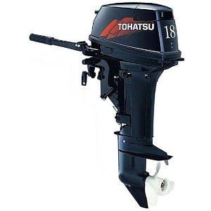Бензиновый двигатель для лодки 2х Tohatsu 18.0 л.с., код: M18E2-S