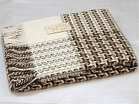 Плед шерстяной Vladi Капучино коричневый 170*210