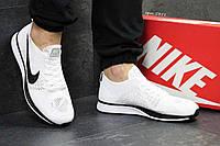 Кроссовки мужские белые Nike Flyknit Racer 5351