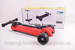 Самокат (свет, 4 колеса PU) SC180305
