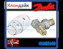 Danfoss клапан RA-FN + термостатический элемент RAS-C2 Угловой