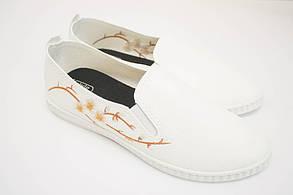 Женские мокасины (Код: 1011 сакура бел-беж )