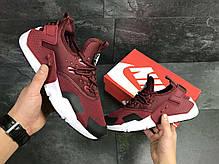 ec6c7c41e Кроссовки мужские бордовые Nike Air Huarache 7110 купить в интернет ...