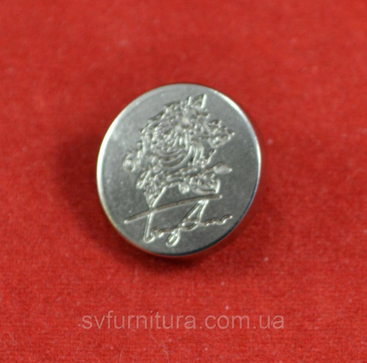 Кнопка А 15197 серебро
