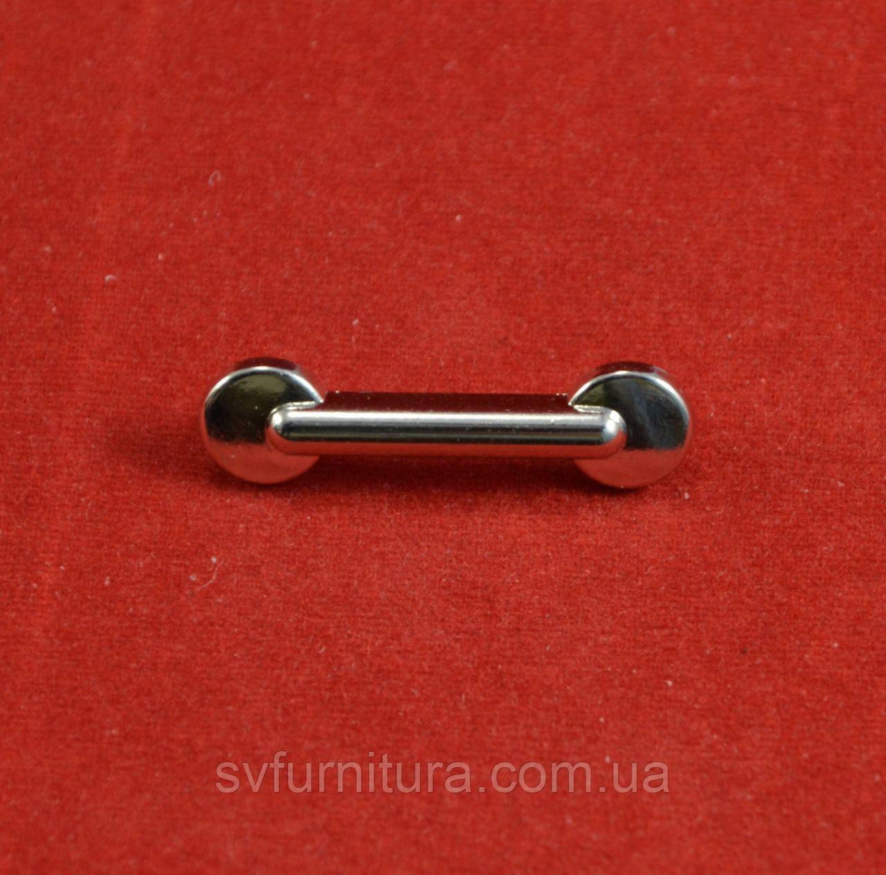 Металическая нашивка А 14738 серебро