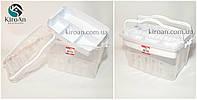Универсальный контейнер со съемным лотком для хранения мелких предметов 9л, Турция 30*20см высота 20см