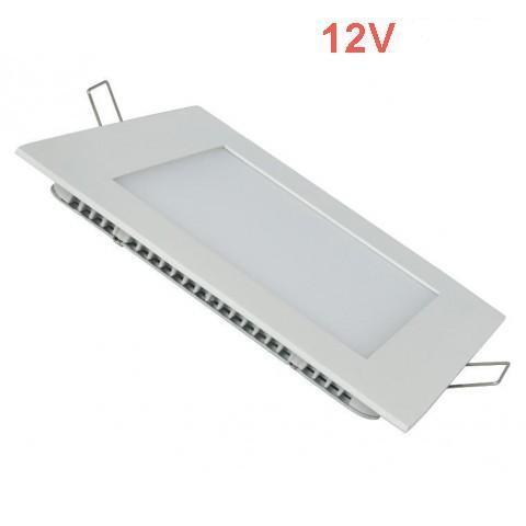 Світлодіодна врізна панель SL 447S S 6W 12V 4500K квадратний білий IP20 Код.59470