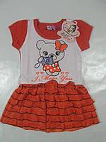 Платье  летнее для девочек, размер 68,арт. Q 2008