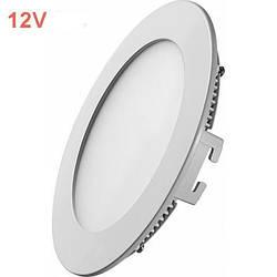 Светодиодная врезная панель SL 443R 6W 12V 3000K круглый белый IP20 Код.59477