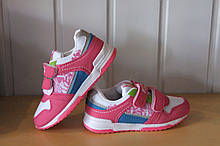 Кросівки на дівчинку 26,27,29,30,31 р рожеві 9811-10.