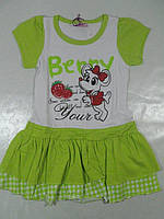 Платье трикотажное для девочек, размер 110,  арт. Q 6012