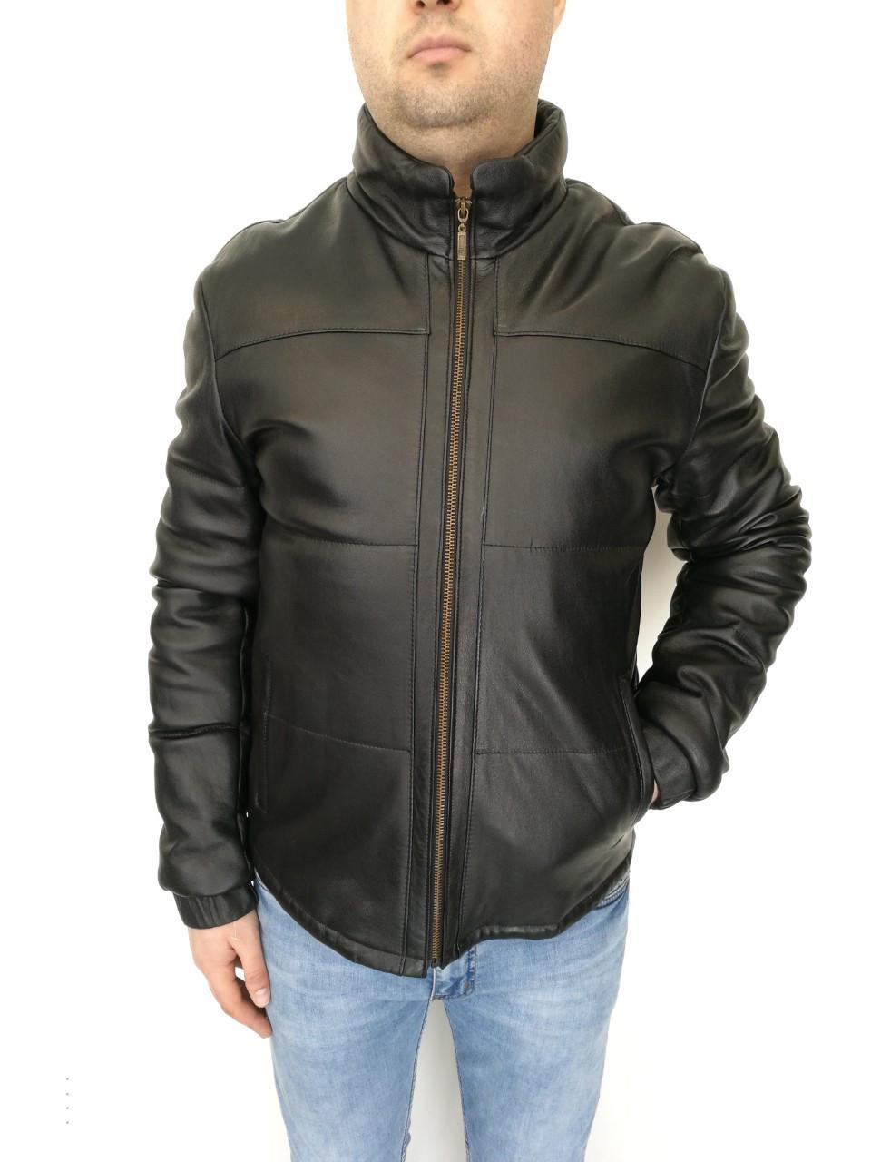 Куртка кожаная мужская Oscar Fur 432 Черный