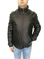 Куртка кожаная мужская Oscar Fur 432 Черный, фото 1
