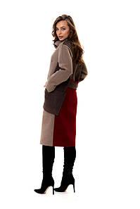 Женское комбинированное пальто в расцветках, р-р 48-50. Т-1-1-0319
