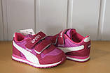 Кросівки на дівчинку 22 р рожеві арт 123-1., фото 3