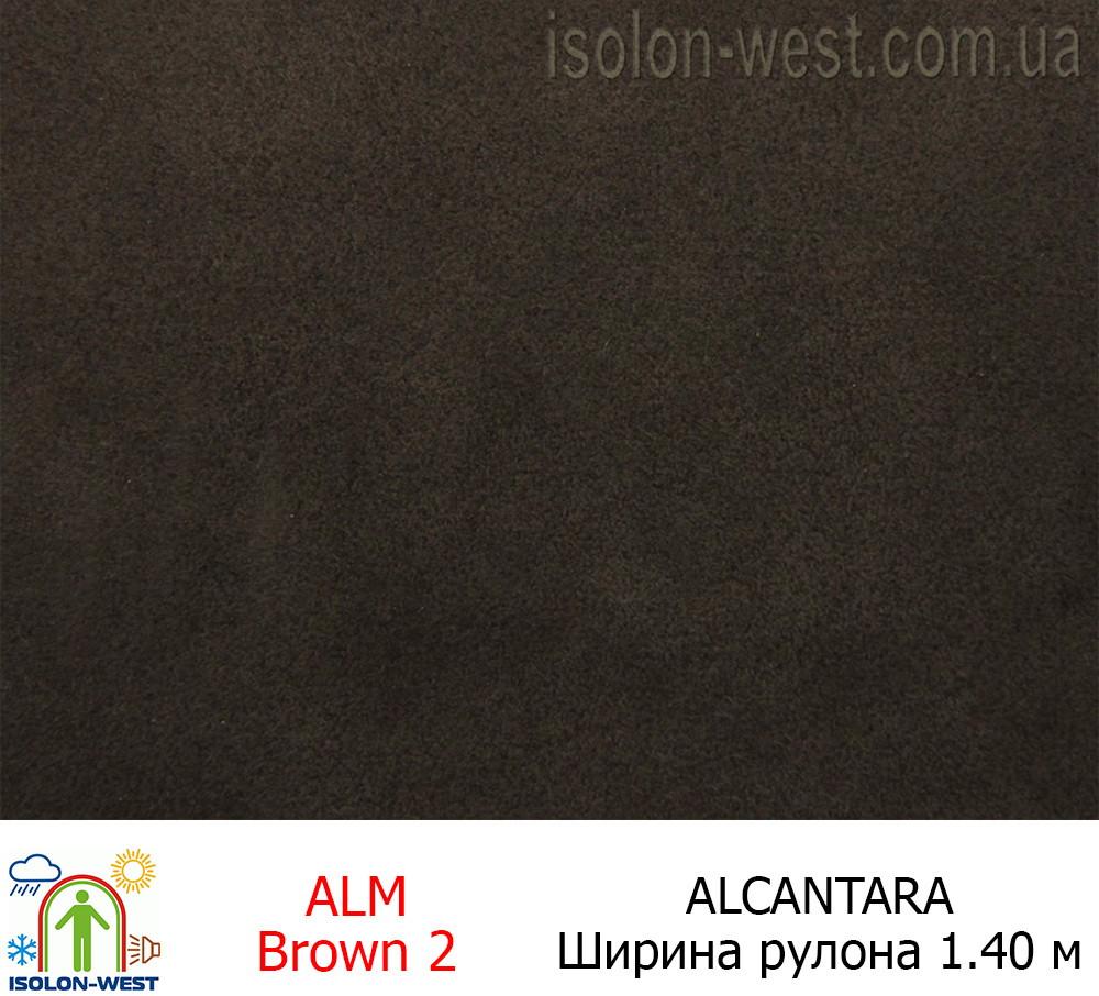 Алькантара коричневая 01 Италия