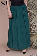 Летняя длинная юбка в пол свобного кроя для пышных дам