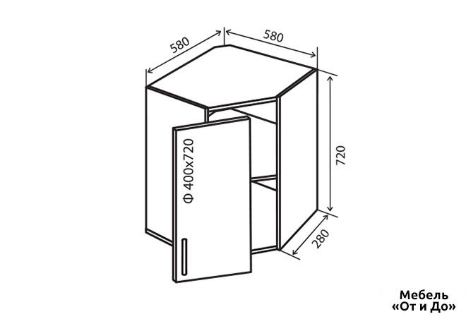 Модульная кухня Аморе Классик / Amore Classic В14 Тумба угловая 1Д