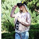 Куртка косуха из экокожи с декоративными шнурками на молниях, фото 6