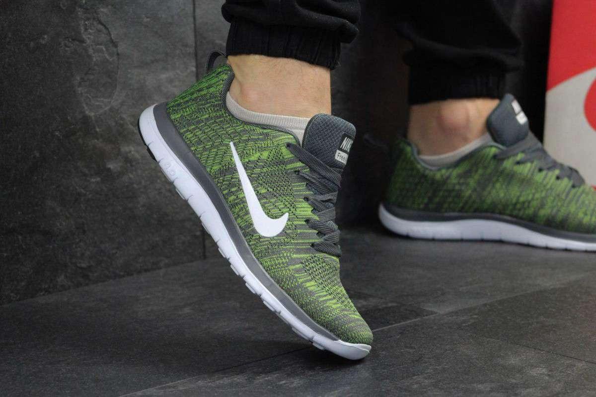29b9b3d3 Кроссовки мужские темно зеленые Nike Free Run 4.0 4910 купить в ...