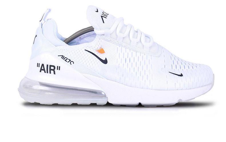 2f0b710d Кроссовки женские Off-White x Nike Air Max 270 White (Реплика ААА класса)