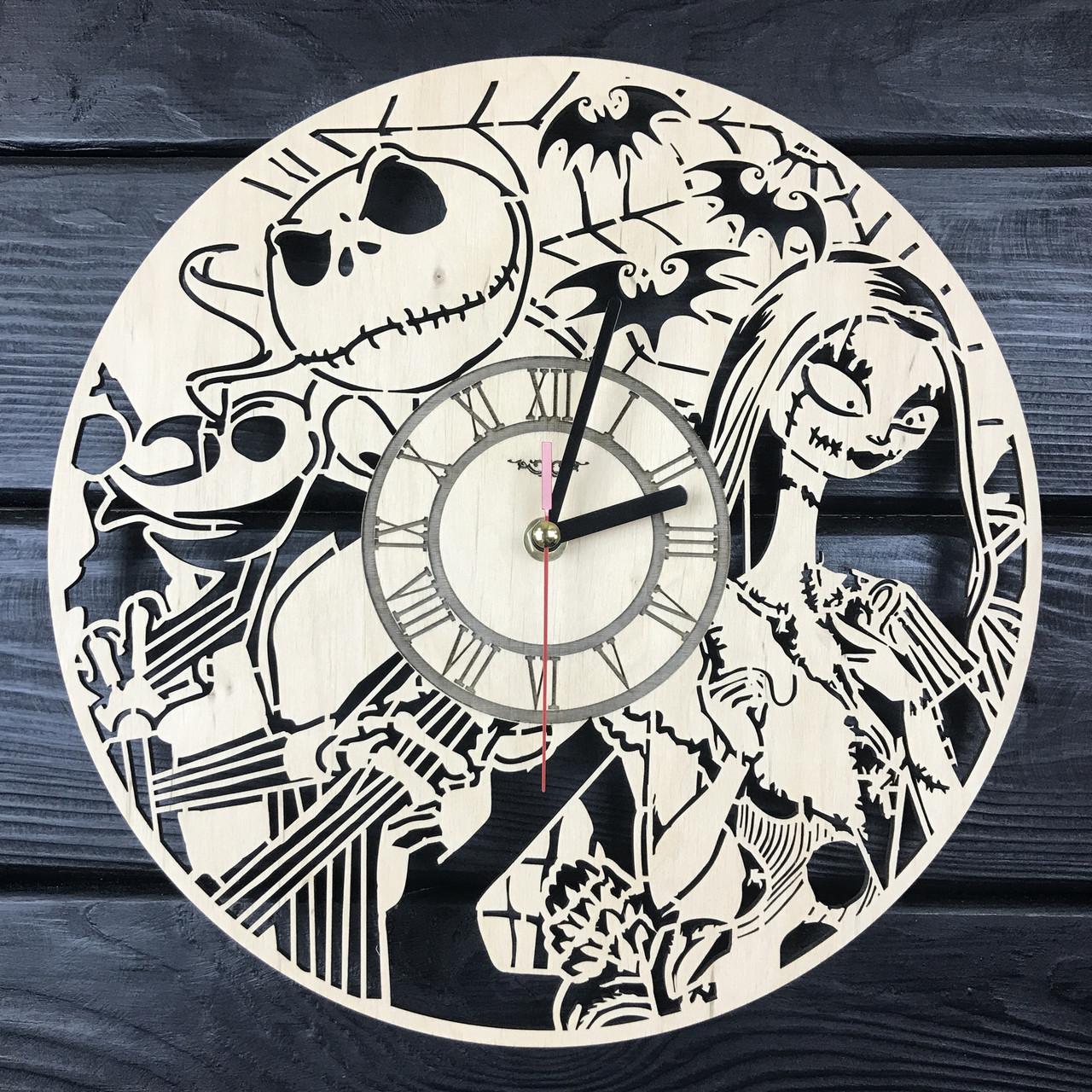 Детские настенные часы из дерева «Кошмар перед Рождеством»
