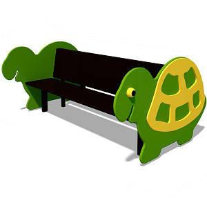 Детская скамейка PLAYBABY двойная Черепаха, код: S746
