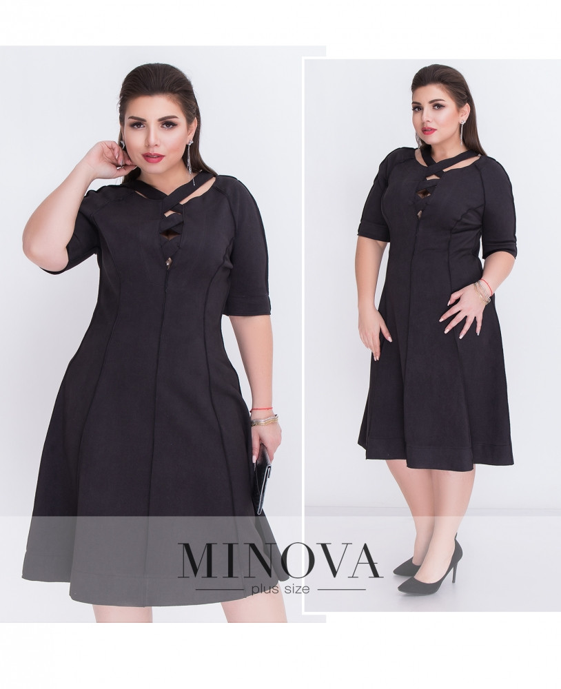 Сукня №18-05-чорний Розміри 48
