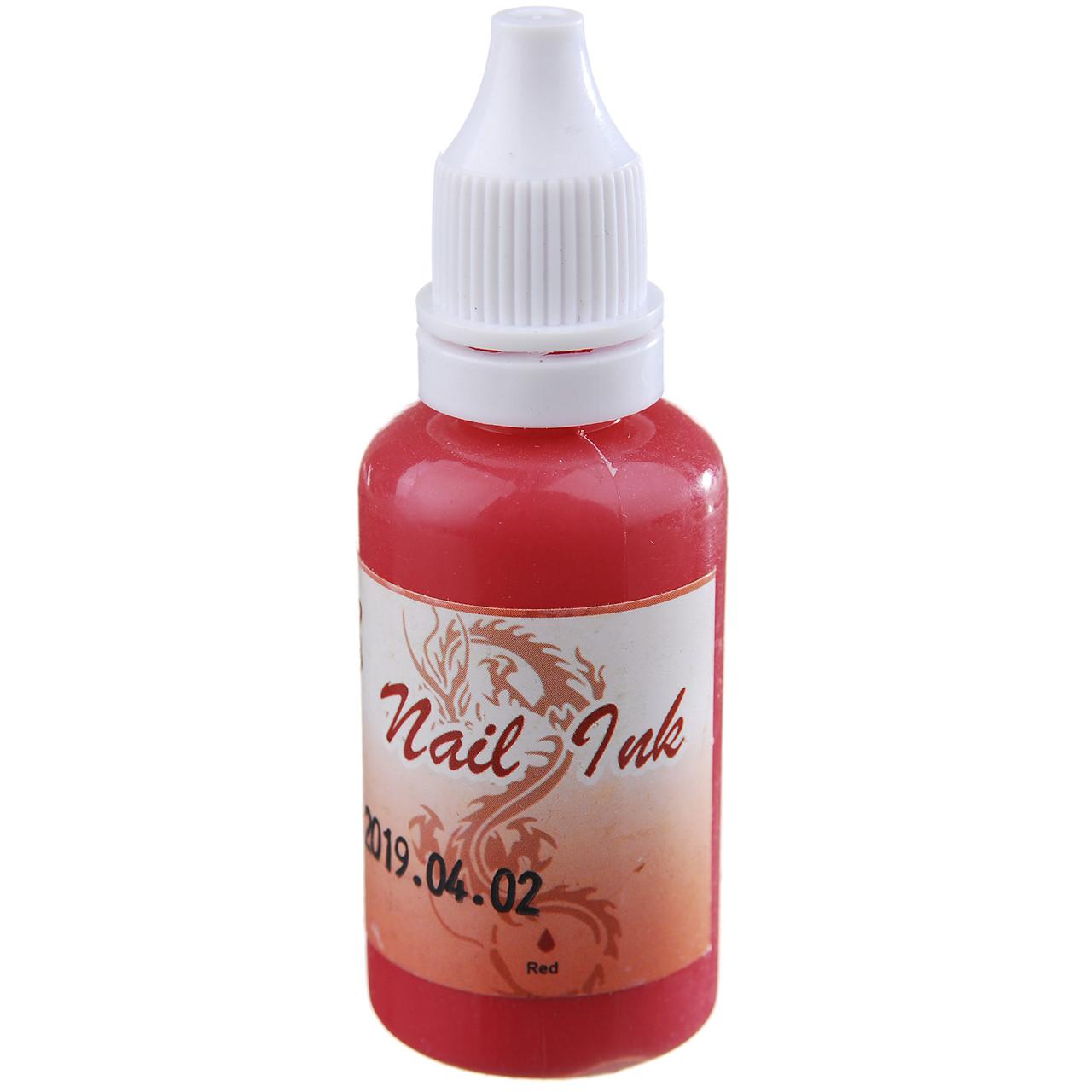 Краска для Аэрографа Nail Ink (Red) 10мл