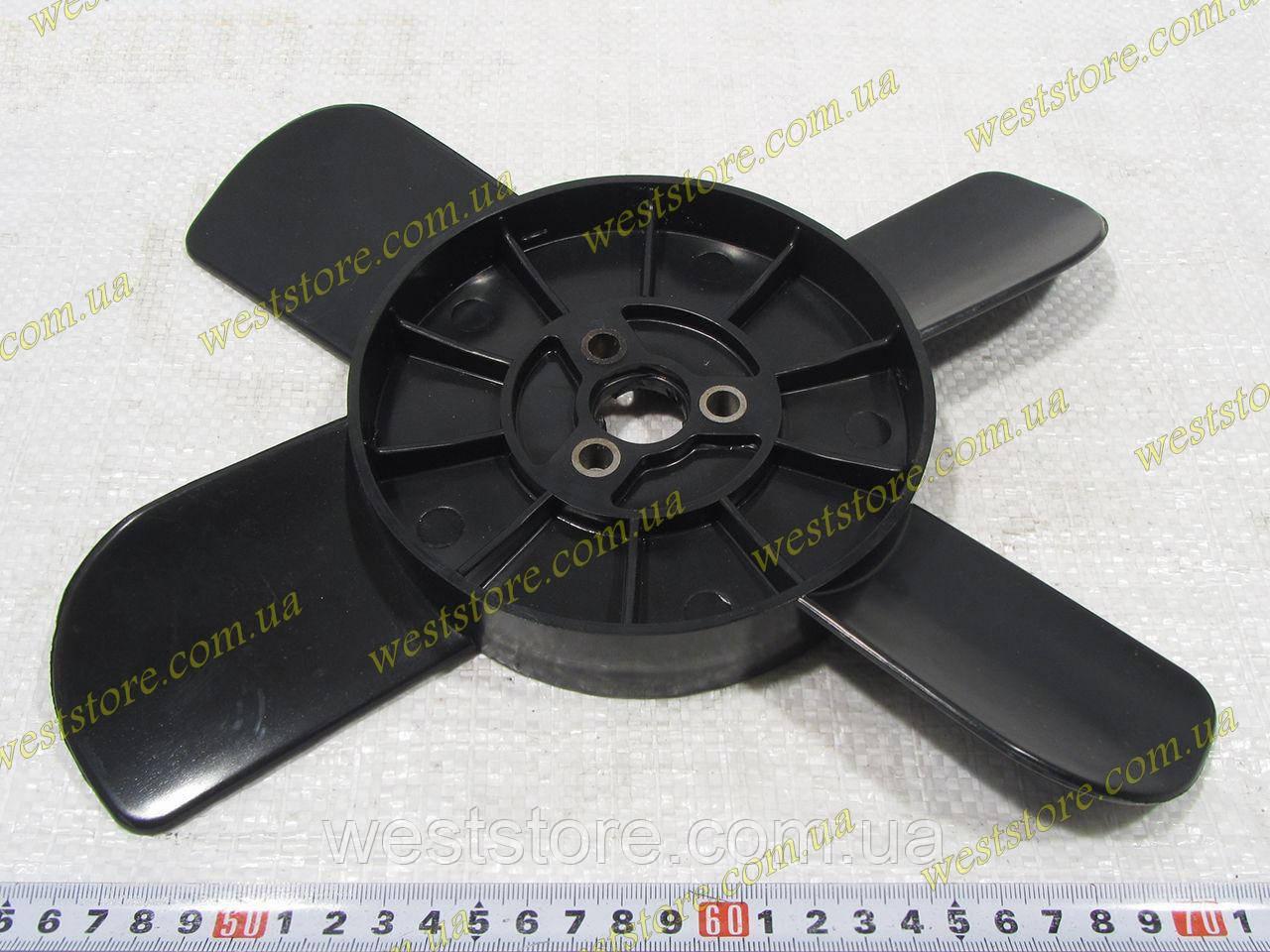 Крыльчатка вентилятора радиатора Ваз  2101 2102 2103 2104  2106 2107 4-х лопастная черная Украина