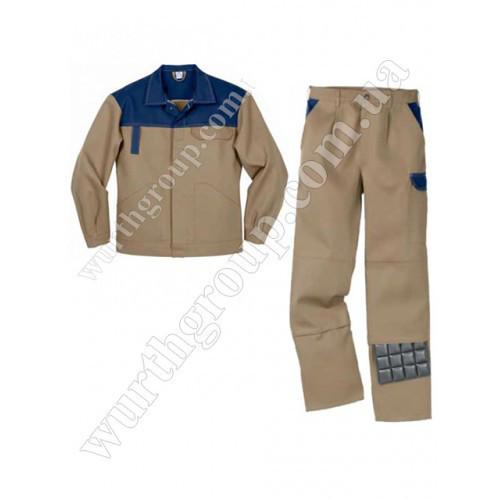 Комплект брюки куртка Modyf Eco Print Brown Wurth