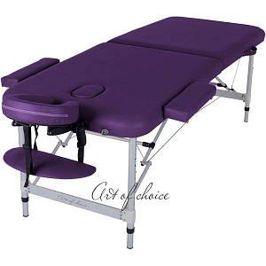 Массажный стол складной Art of choice Boy (фиолетовый), код: HQ10V