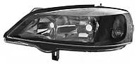 Фара левая Opel Astra G 1998 - 2009, электр., серый корпус + рант черный, (Depo, 442-1116L-LDEM2) OE 1216106 - шт.