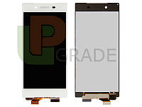 Дисплей для Sony E6603 Xperia Z5/E6653  /E6633 Dual/E6683 Dual + тачскрин, белый
