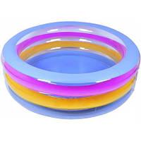 """Різнобарвний дитячий надувний басейн з м'яким дном """"Морське життя"""", фото 1"""