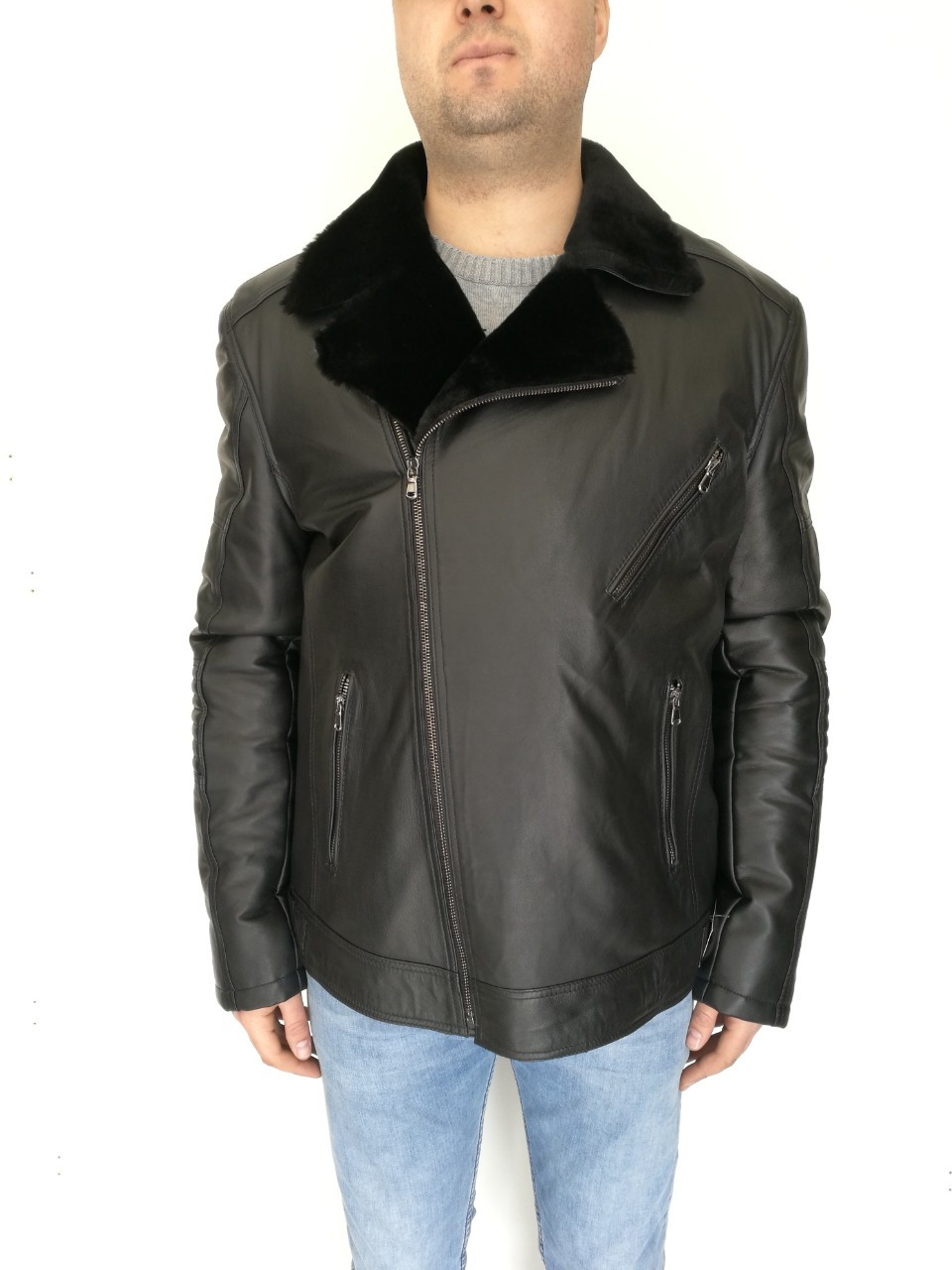 Дубленка мужская косуха /  sheepskin coat for men 370