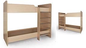 Кровать двухъярусная №6 Дуб молочный (Luxe Studio-TM)