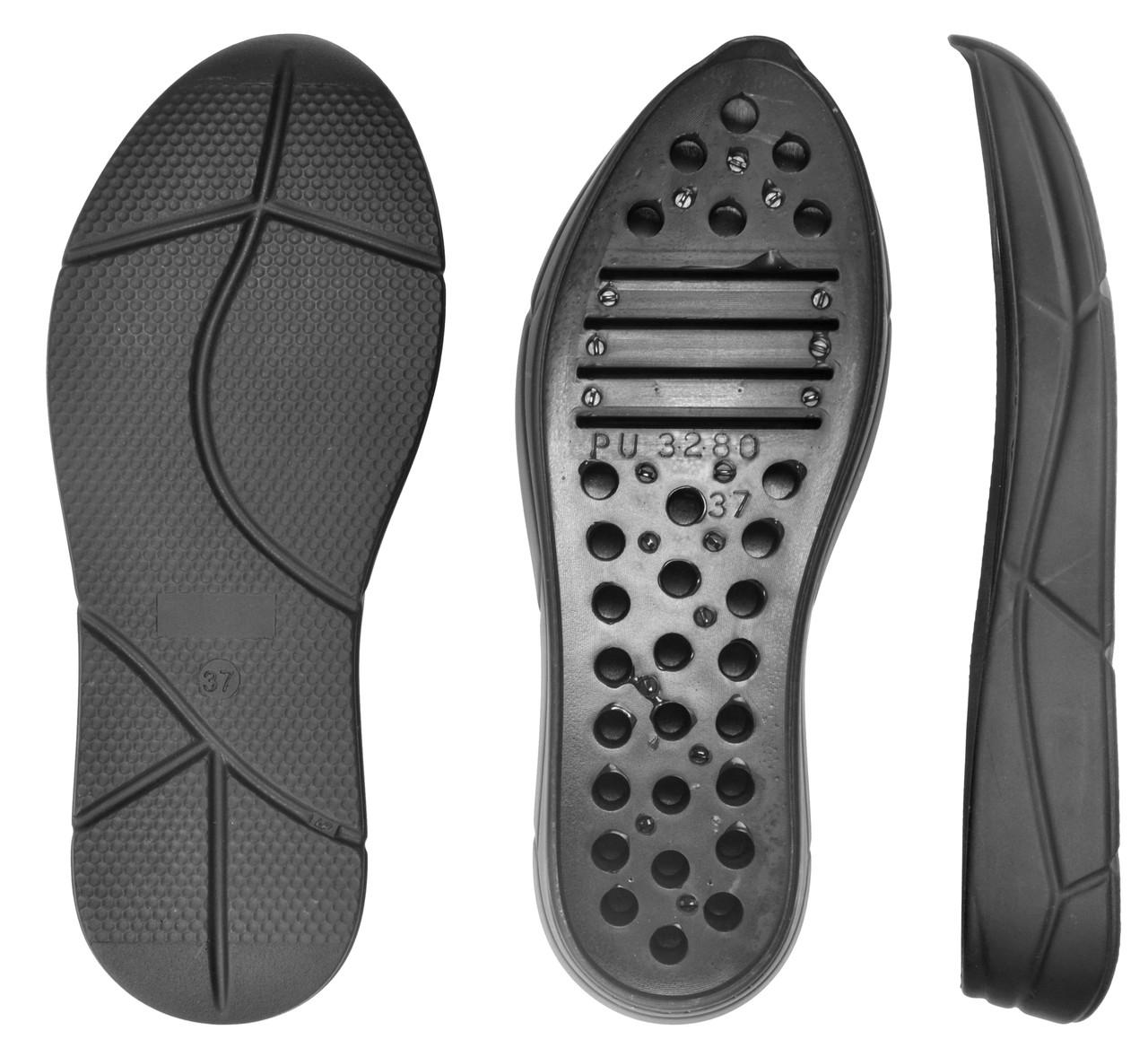 Подошва для обуви PU-3280 LP, цв. чёрный, р.37