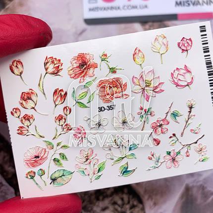 Слайдер дизайн 3D-357 цветы, фото 2