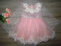 Детское нарядное платье на 3 месяца р 62