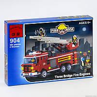 Конструктор Brick 904 Пожарная машина 364 дет. В КОРОБКЕ
