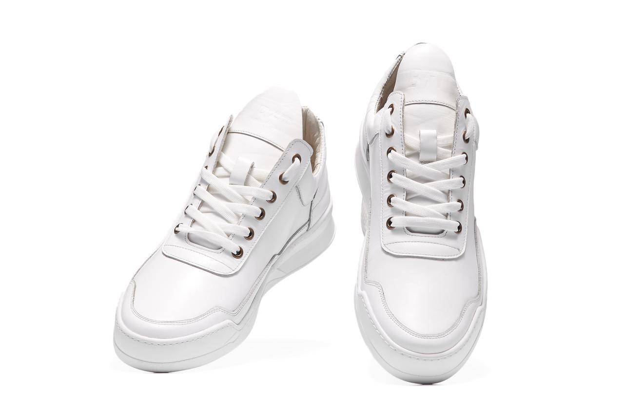 a17a02e4 ... Мужские кожаные кроссовки BASTION 19301. Белые. Натуральная кожа, фото  4 ...