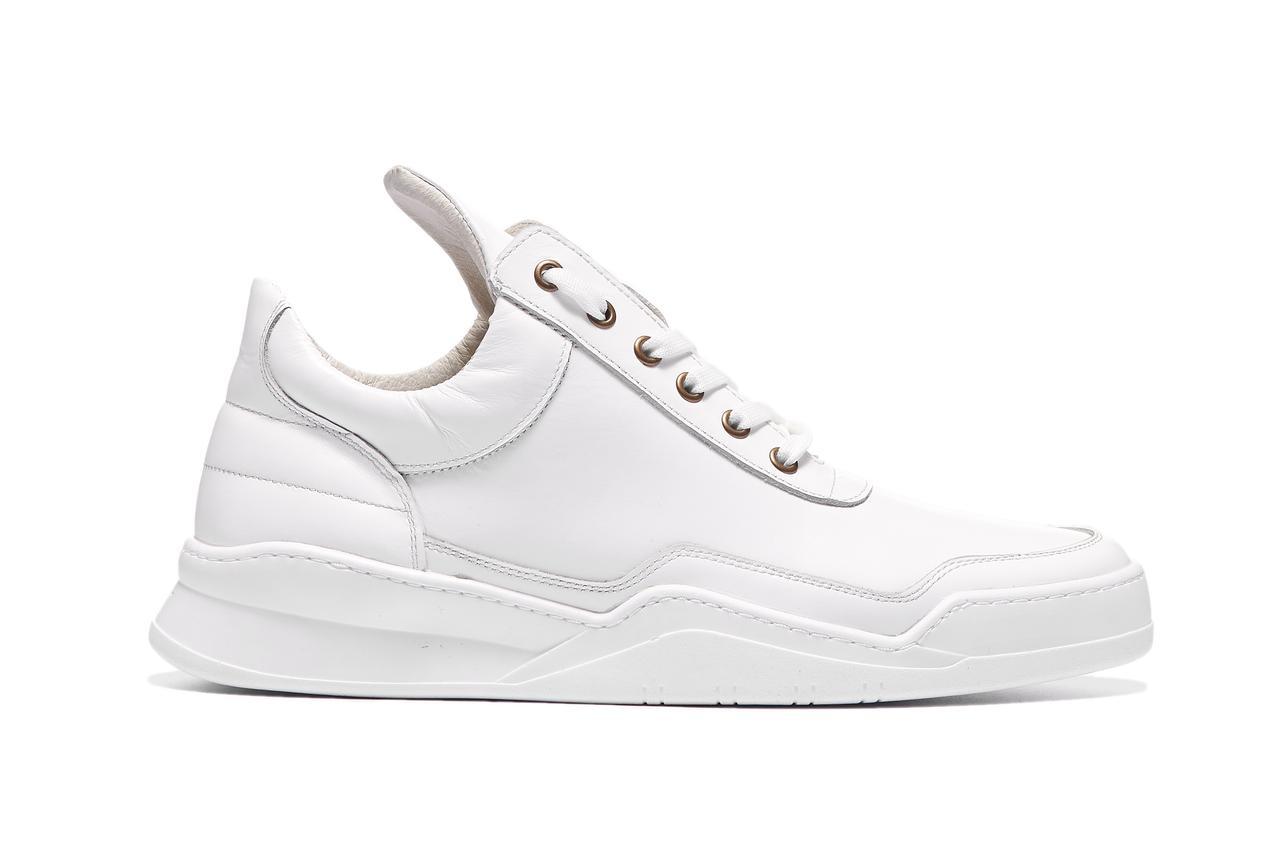 460b5b17 Купить Мужские кожаные кроссовки BASTION 19301. Белые. Натуральная ...