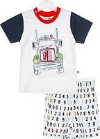 Летний комплект для мальчика (футболка+шорты) 68,74.80 размер