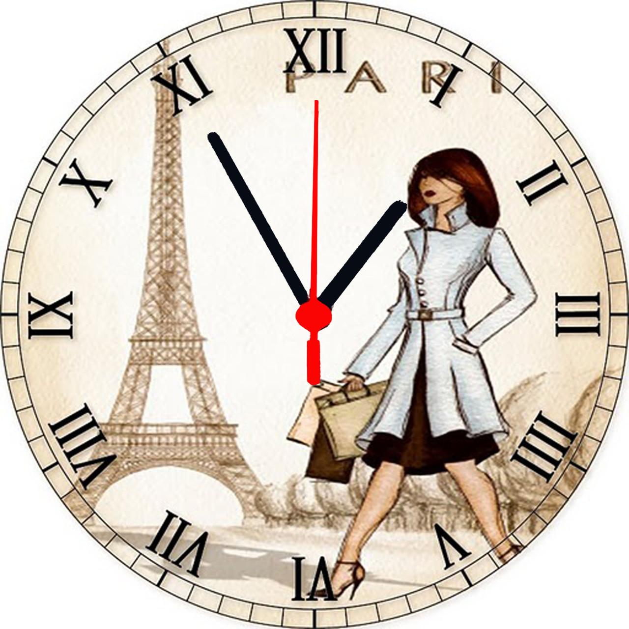 """Настінні годинники круглі """"Paris"""""""