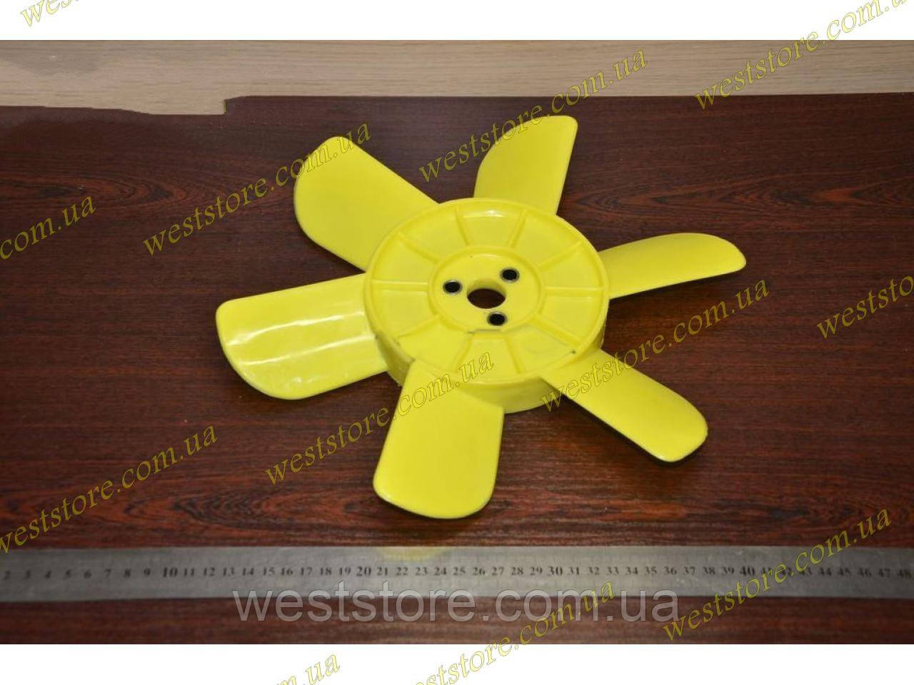 Крыльчатка вентилятора радиатора Ваз  2101 2102 2103 2104 2105 2106  6-ти лопастная  желтая Украина